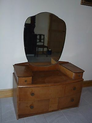 Vintage Dressing Table with shaped mirror