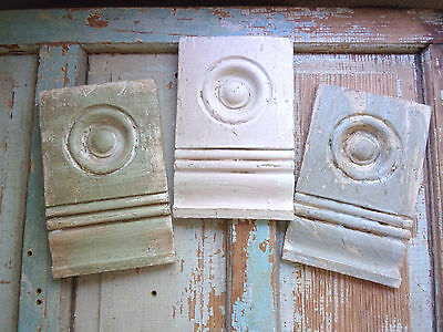 SHABBY n CHIC FURNITURE APPLIQUES ARCHITECTURAL BULLSEYE ROSETTES VINTAGE STYLE