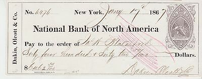 Check - Nat'l Bank of North America w/RN-B2 Rev. - Lot 655