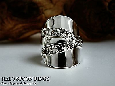 Stunning And Chunky Ladies Swedish Silver Spoon Ring *** Only One Available ***