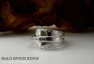 Beautiful Georgian Solid Silver Spoon Ring 1802 *** Fully Assay Approved ***