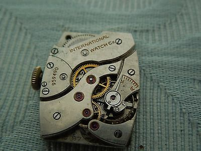 """""""IWC"""" International Watch Company Cal 87, complete movement and dial for parts"""