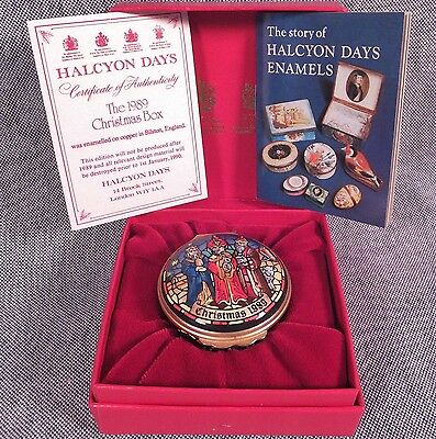 Halcyon Days Enamels * 1989 Christmas Box * Three Wise Men Excellent Condition