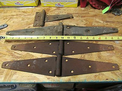 Lot Of 4 Big Old Rust Hinges