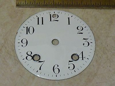 Good Antique French Clock Striking Enamel Dial (Ar)