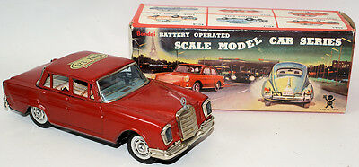 Vintage Battery Op Tin Litho MERCEDES BENZ 220 from the Scale Model Car Series