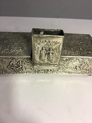 Antique Unique Repossess Silverplated Cigarbox Barbour SP Co International S Co