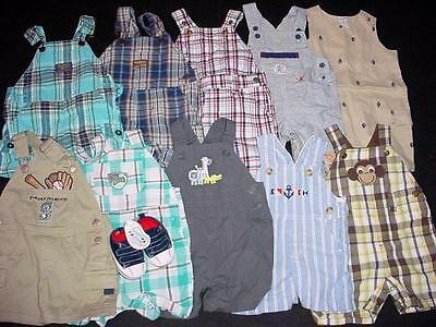 Used Baby Boy One Piece 3-6 Months Summer Overall Shorts Clothes Lot