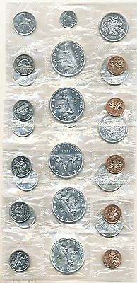 1963 Canada Proof Like Silver Coin Set 5 Sets