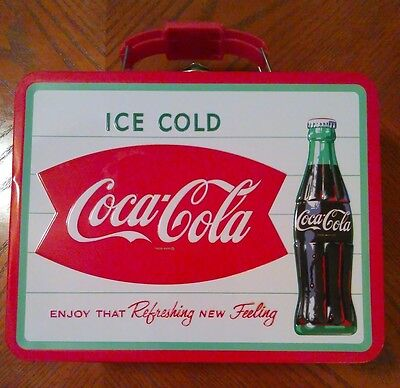 "Tin/Metal Coca Cola, Coke Lunch Box 8"" by 6"""
