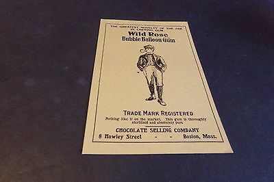 Vintage Wild Rose Bubble Balloon Gum Postcards Greatest Novelty of Chewing Gum