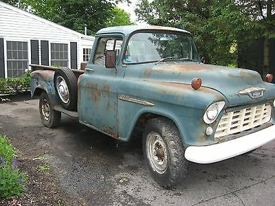 1955 Chevrolet Other Pickups 1 Ton 1955 Chevrolet Chevy Stepside Pickup with Dump Body