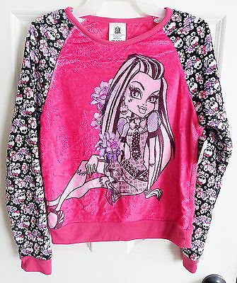 NWT 2016 Monster High Girl's Multi-Color Frankie Fuzzy Sweatshirt Size 14-16