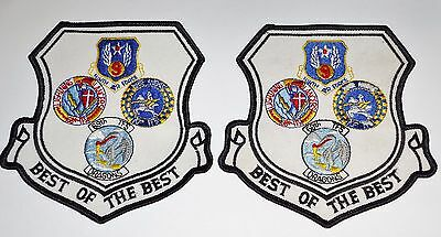 """Usaf """"best Of The Best""""  Patch Lot Of Two - New"""