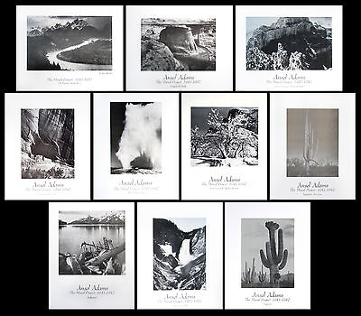 """Ansel Adams The Mural Project SET OF 10 16""""x20"""""""