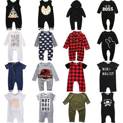 Toddler Baby Boy Girl Infant Romper Bodysuit Jumpsuit Playsuit Clothes Outfits