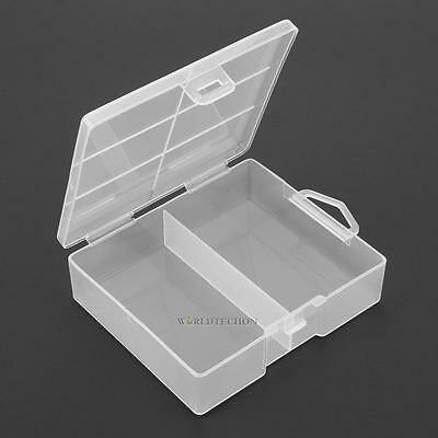 Clear Portable Hard Plastic Battery Case Holder Storage Box for 24 × AA Battery