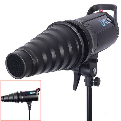 Neewer Black Metal Studio Flash Conical Snoot Light Control for Bowens