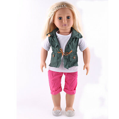 new arrive  3pcs clothes for 18inch American girl doll party n166