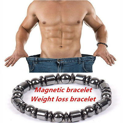 1pcs Weight Loss Round Black Stone Magnetic Therapy Bracelet Health Care Noble
