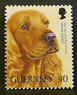 'Cocker Spaniel' dog illustrated on 2001 stamp - Unmounted mint