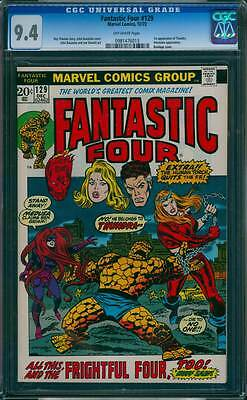 Fantastic Four # 129  All This, and the Frightful Four !  CGC 9.4 scarce book !