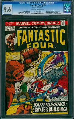 Fantastic Four # 130  Battleground : the Baxter Building ! CGC 9.6 scarce book !