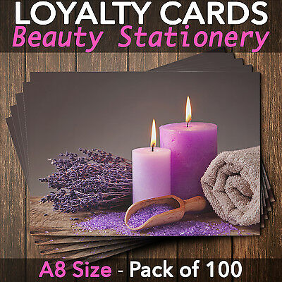Customer Loyalty Cards Blank Coupon Spa Business Salon Massage Pack of 100