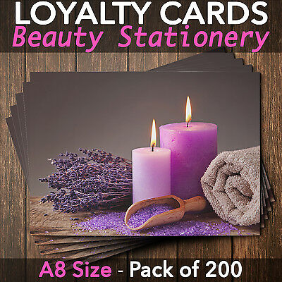 Customer Loyalty Cards Blank Coupon Spa Business Salon Massage Pack of 200