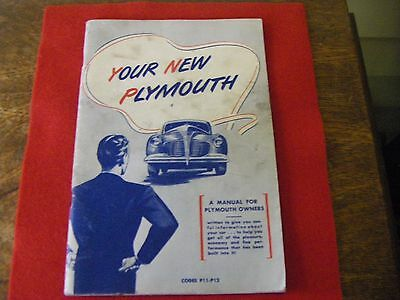 Vintage 1940 Owners Manual for Plymouth Automobiles Cars