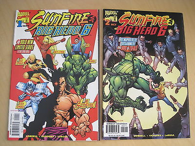 SUNFIRE & BIG HERO 6 : #s 1& 2 of 3 ISSUE 1998 MARVEL SERIES. FN - NM. 1st PRINT