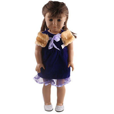2017 cute gift 1set clothes  for  18inch American girl doll party N391