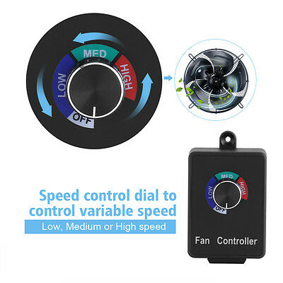 Speed Controller Inline Fan Duct Variable Blower Air Vent Control Rheostat DY