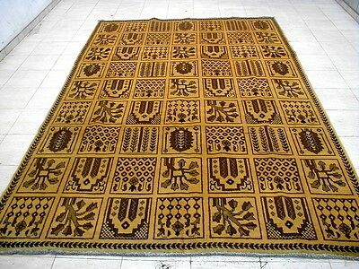 10X7 1940's SPECTACULAR HAND KNOTTED ANTQ GOLD WASHED WOOL BAKHTIARI PERSIAN RUG