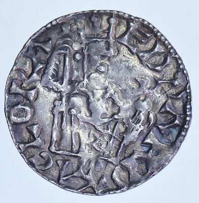 Edward The Confessor Penny Iola On York (1042-1066) British Silver Hammered Coin