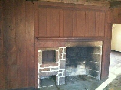 1750s 18th century Kitchen hearth fireplace Mantle raised panel Chimney breast