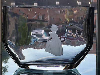Vintage Signed Orrefors Glass WISH TO THE MOON Vase 2769 Edvin Ohrstrom