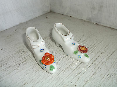 """2 Made In Japan High Heeled Miniature Shoes 1 1/4"""""""