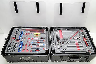 MILITARY ELECTRONIC TOOL KIT W CUSTOM ROLLING TRAVEL CASE (missing some pieces)