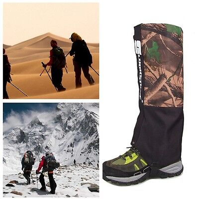 Camo Waterproof Outdoor Hiking Hunting Climbing Snow Leg Cover Legging Gaiters