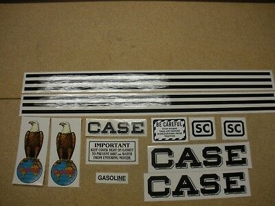 Case SC Tractor Decal Set - NEW FREE SHIPPING