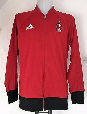 Ac Milan 2016/17 Red Anthem Jacket By Adidas Size Adults Large Brand New