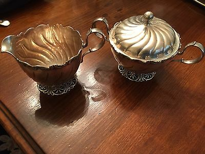 Theodore B Starr Sterling Silver Sugar and Creamer 2856