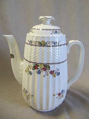 Spode Cowslip Coffee Pot  In Good Vintage Condition With Crazing