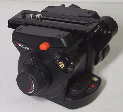 Manfrotto 503HDV PRO CINE/Video Fluid Head. With New Oversized Plate