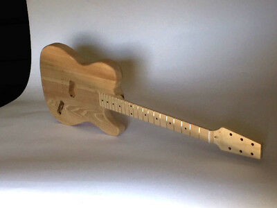 Diy Builder Project Kit Tele Style Snakehead Ash Body Vintage Style Tuners