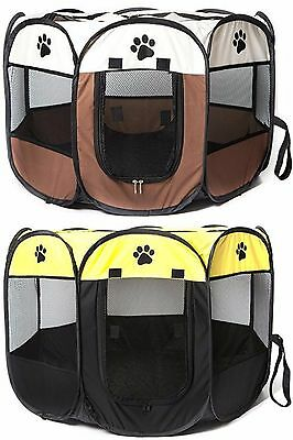 Pets Play Pen Secure Indoor And Outdoors Cat/Dogs Easy Storage & Travel Most Pet
