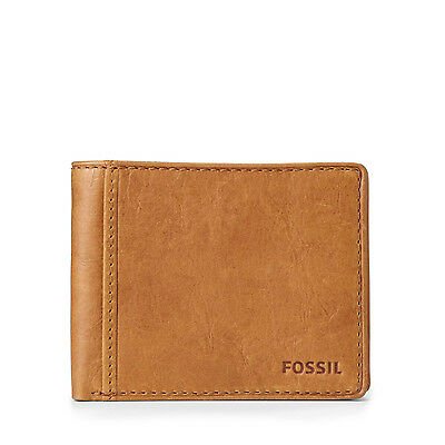 Fossil Men's Ingram Genuine Leather Traveler Wallet w/ Flipout ID Slim Billfold