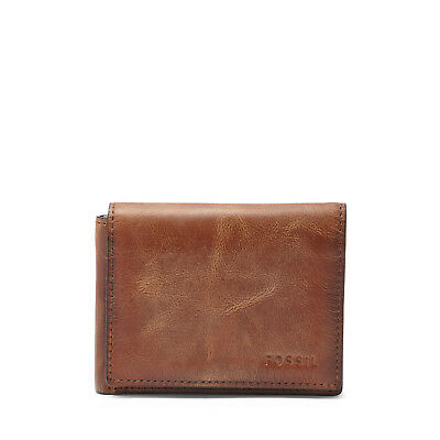 Fossil Men's Derrick Execufold Leather Wallet High Capacity Billfold Trifold