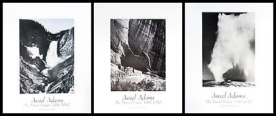 """Ansel Adams The Mural Project National Parks vertical SET OF 3 16""""x20"""""""